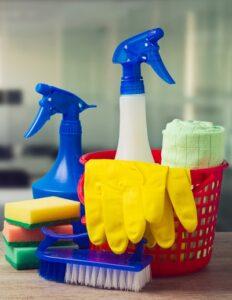 schoonmaakmiddelen benodigdheden voor kantoor schoonmaken